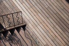Drewniana droga przemian z schodkiem Obraz Stock