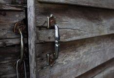 Drewniana drzwiowa stara stajnia ilustracja wektor