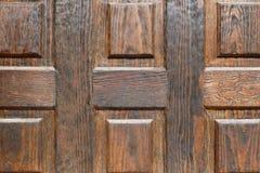 Drewniana drzwiowa tekstura Obrazy Royalty Free