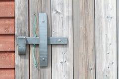 Drewniana drzwiowa zapadka obraz royalty free