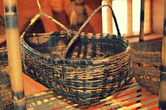 Drewniana dziecko kołyska Fotografia Stock