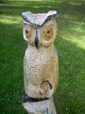 Drewniana figurka sowa Fotografia Royalty Free