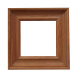 drewniana fotografii rama fotografia stock
