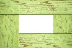 Drewniana fotografii rama, drewniana rama jasnozielony kolor Obraz Royalty Free