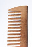 Drewniana grępla z strata włosy Fotografia Royalty Free