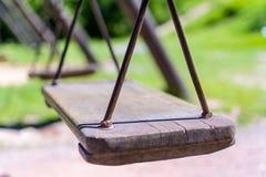 Drewniana huśtawka, rocznik Fotografia Stock