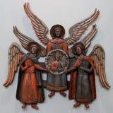 Drewniana ikona katedra aniołowie od kolekci o Obraz Royalty Free