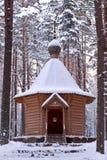 Drewniana kaplica. Zdjęcia Royalty Free