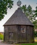 Drewniana kaplica na Kernave kopu Obraz Royalty Free