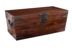 Drewniana klatka piersiowa zamykająca Zdjęcia Stock