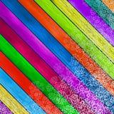 Drewniana kolorowa kartka bożonarodzeniowa. + EPS8 Zdjęcia Royalty Free