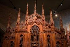 Drewniana kopia Mediolańska katedra zdjęcie stock