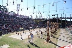 Drewniana kotlecik rywalizacja - Sydney Wielkanocny przedstawienie obrazy royalty free
