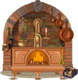 Drewniana kuchenka ilustracja wektor
