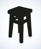 Drewniana kuchenna stolec Wektorowy nakreślenie Zdjęcia Stock