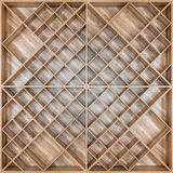 Drewniana kwadratowa półka dla wina lub książek deski z beautifu, Obrazy Stock