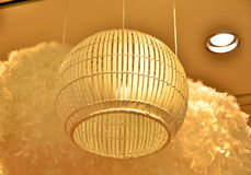 Drewniana lampa Zdjęcia Royalty Free