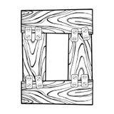 Drewniana liczby (0) rytownictwa wektoru ilustracja Fotografia Stock