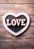Drewniana list miłość Obraz Stock