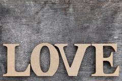 Drewniana list miłość Obraz Royalty Free