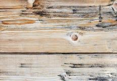 Drewniana lub drewniana rocznik deski podłoga lub ściana Zdjęcia Royalty Free