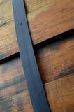 Drewniana lufowa zakończenie tekstura zdjęcie stock