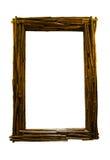 Drewniana lustro rama Zdjęcie Stock