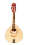 Drewniana mandolina Odizolowywająca na bielu Zdjęcie Stock