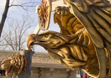 Drewniana maska orze? zdjęcie royalty free