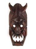 DREWNIANA maska Z rogami  Zdjęcie Royalty Free