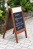 Drewniana menu deska Zdjęcie Royalty Free