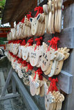 Drewniana modlitwa dzwoniąca obraz stock
