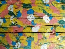 drewniana multipainted tekstura Zdjęcie Stock