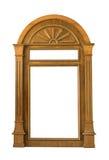 Drewniana nadokienna rama Obrazy Royalty Free