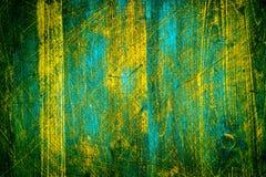 Drewniana naturalnego tła tekstura wysokiej jakości w górę Zieleń malujący rocznika kolor z głębokimi narysami fotografia royalty free