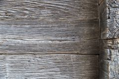 Drewniana obdrapana ściana stare deski obrazy royalty free