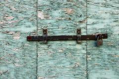 drewniana obieranie zamknięta żaluzja zdjęcie royalty free