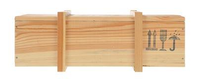 drewniana odosobniona pudełko wysyłka Fotografia Stock