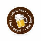 Drewniana odznaka dla piwnych fan Zdjęcie Stock