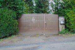 Drewniana ogrodowa brama Obraz Royalty Free
