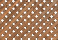 Drewniana Ogrodowa siatka - biały tło Fotografia Royalty Free