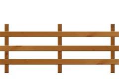 Drewniana ogrodzenie krajobrazu orientacja Zdjęcia Royalty Free