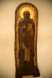 Drewniana ortodoksyjna ikona obraz royalty free