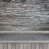 Drewniana półka dla tła Tło dla produktu pokazu pojęcia Fotografia Royalty Free