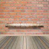 Drewniana półka dla tła Tło dla produktu pokazu pojęcia Zdjęcie Stock