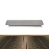 Drewniana półka dla tła Tło dla produktu pokazu pojęcia Fotografia Stock
