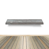 Drewniana półka dla tła Tło dla produktu pokazu pojęcia Obrazy Royalty Free