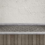 Drewniana półka dla tła Tło dla produktu pokazu pojęcia Zdjęcia Stock