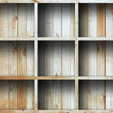 Drewniana półka, grunge przemysłowy wnętrze Obrazy Royalty Free