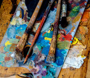 Drewniana paleta Zdjęcie Stock